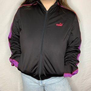 black puma track jacket!💗🖤💜